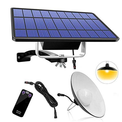 hehsd0 Solar Anhänger Lichter, Ip65 Wasserfest Innen/Außen Solar Decke Lichter Verstellbar Fernbedienung 132Led Solar Anhänger Lichter für Garten, Garten, Terrasse - Black-B-Warm Licht, Free Size