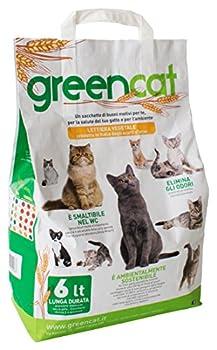 GREEN CAT Greencat Litière pour Chats à Base d'orge 6 litres (tot. 2,4 kg).