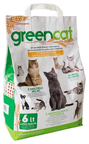 Greencat Katzentoilette mit Gerstenbasis 6 Liter (insgesamt 2,4 kg)