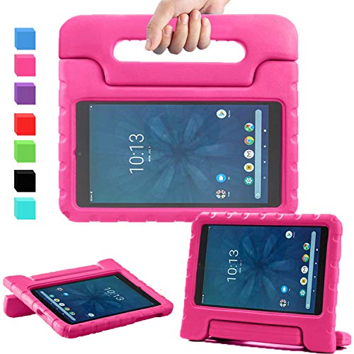 """AVAWO for Walmart Onn 8"""" Kids Case, Light Weight Shock Proof Convertible Handle Stand Kids Friendly Case for Walmart Onn 8inch Android Tablet (2019 Release), Rose"""