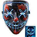 Heytech Halloween Scary EL Wire Light up Mask