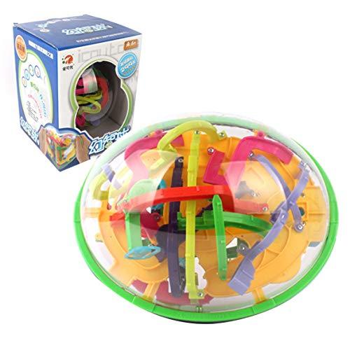Cosye 3D Magic Maze Intellect Rolling Ball Puzzle Laberinto Bola Equilibrio esférico Capacidad lógica para niños Regalo de cumpleaños