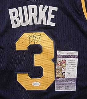 Trey Burke Utah Jazz Autographed Blue #3 Jersey Size 50 JSA COA