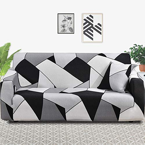 ASCV Stretch Sofabezug Schonbezüge Elastische All-Inclusive-Couchkoffer für Sofa in verschiedenen Formen Loveseat Chair L-Style Sofakoffer A28 1-Sitzer