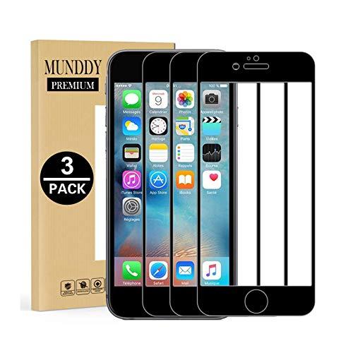 MUNDDY - Pack DE 3 Protectores de Pantalla Completa Full Glue para...