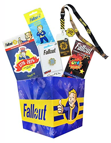 toynk Fallout Collectibles LookSee Mini Collectors Box | Lanyard, Keychain, Pin, Cards & More