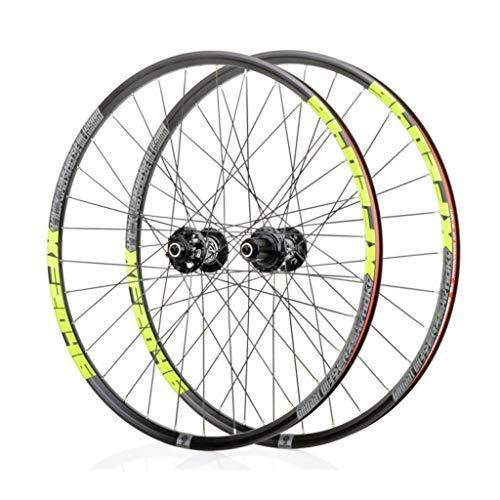 LBBL Ruedas Bicicleta, 700C Wheels Freno Disco 8 9 10 11 Velocidad Rueda Aro Aluminio Liberación Rápida 29 Pulgadas Ligera Y Resistente A La Torsión (Color : B, Size : 27.5inch)