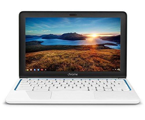 2016 HP Chromebook 11.6-inch Laptop, Samsung Dual-Core Processor 1.7GHz, 2GB RAM, 16GB SSD, 802.11b/g/n WiFi, Bluetooth, White/Blue (Renewed)