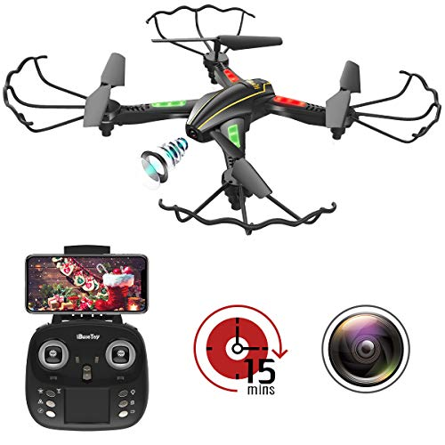 [New Version] WiFi FPV RC Quadcopter Drone with Wide-Angle HD Camera Live Video RTF 4 Channel 2.4GHz...