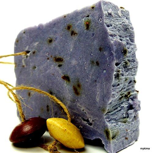 Handgemachte Seife: Kaltgerührte Schafmilchseife Lavendel 150gr | Naturseife liebevoll verpackt im Leinensackerl!