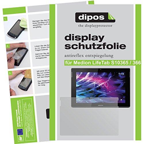 dipos I 2X Schutzfolie matt kompatibel mit Medion LifeTab S10365 / S10366 Folie Displayschutzfolie