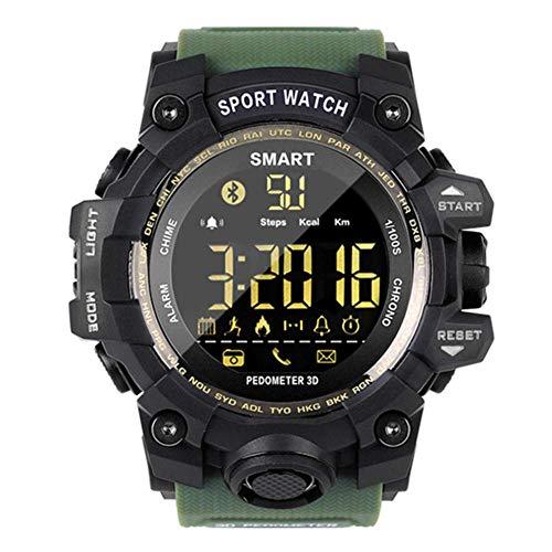 YLKCU Reloj analógico-Digital para Hombre Reloj de Pulsera Deportivo Inteligente Relojes Bluetooth multifunción para Exteriores con 50M Contador de Pasos a Prueba de Agua Calorías Cronóm