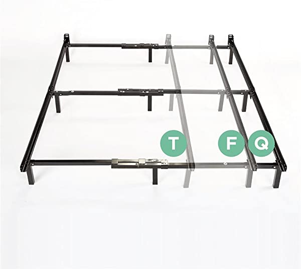 Zinus Michelle Compack Adjustable Steel Bed Frame For Box Spring And Mattress Set Fits Twin To Queen Sizes