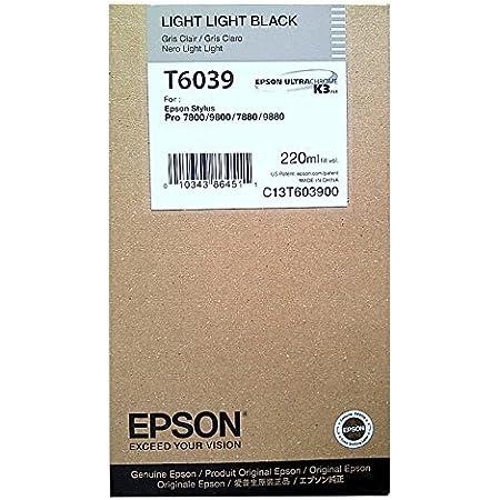 Epson UltraChrome K3 Ink Cartridge - 220ml Light Light Black (T603900)