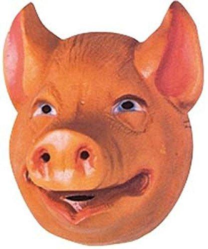 Mondial-fete - 4 Masques cochon enfant PVC 3D -20 x 16 cm