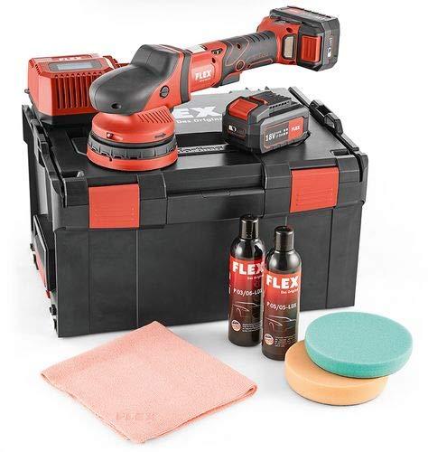 FLEX XCE8 125 18.0-EC/5.0 P-SET Accu Excentrische Polijstmachine 150mm in koffer + 2 accu's en oplader & toebehoren