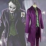 Heath Ledger Costume de joker pour homme Motif The Dark Knight Violet