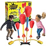 The Original Stomp Rocket Dueling Rockets, 4 Rockets and Rocket Launcher - Outdoor Rocket Toy Gift for Boys and Girls...