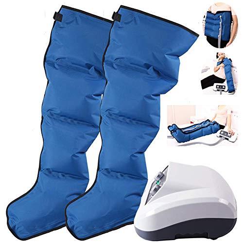 Moment Aire Compresión Pierna Masajeador 4 Cavidades Presoterapia para Drenaje linfático, síndrome de piernas inquietas y Relajarse Perder Peso, 220V,2legandwaist