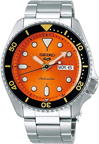 SEIKO SRPD59 5 Sports 24-Jewel Automatic Watch - Orange