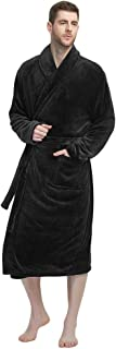 Image of Afforable Comfortable Soft Fleece Bathrobe for Men - More Colors Available