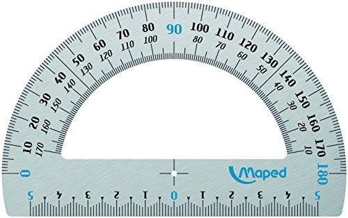 MAPED Winkelmesser 180Grad Aluminium 12cm