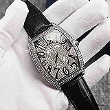 SWJM Nuevo Reloj de Hombre con Forma de Barril, Lleno de Diamantes y Tachonado de Estrellas