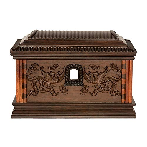 Protect The Life Box Wooden Urns for Human Ashes, Cremation Urn Forever Beautiful Life Store in Living Room Bedroom (Camphor Wood, 400 Cubic Inches) Funeral Supplies