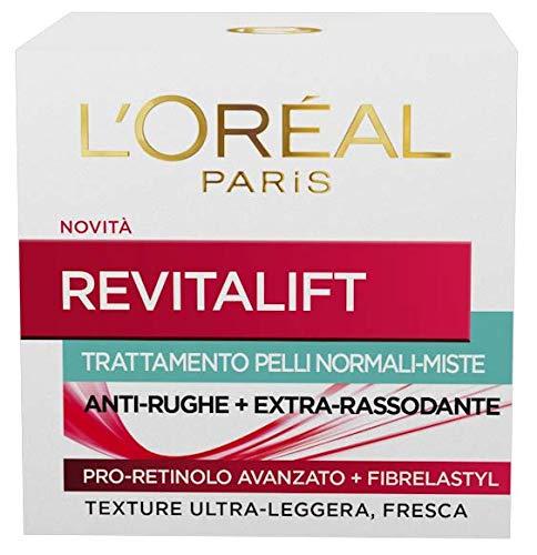 L Oréal Paris Revitalift Crema Viso Antirughe Extra-Rassodante con Pro-Retinolo Avanzato, Pelli Normali o Miste, 50 ml
