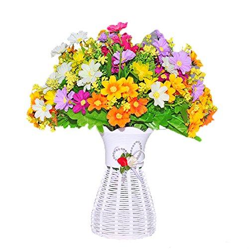 rose Triple t/ête Fleurs Artificielles pour bouquet de mariage Home Decor Sensail Orchid/ée Papillon