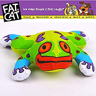 HBK Cute Frog Dog Pet cat Kitten Toy dourable Canvas Colorful Animal Toy with Catmint Catnip