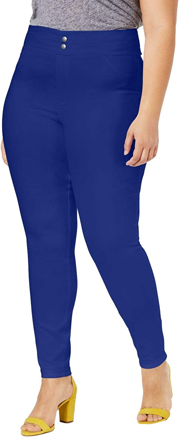 HUE Plus Size Original Smooth Denim Leggings Blue