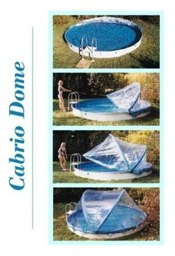 House of Pools Abdeckung Cabrio-Dome Stahlwandbecken 5,00m rundform Poolheizung Poolüberdachung