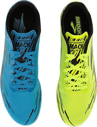 Brooks Men's Mach 18 Spikeless Nightlife/Brooks Brite Blue/Black 6 D US
