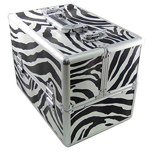 DYNASUN BS355 36.5x27.5x24cm XXL Zebra Designer Beautycase Schminkkoffer Kosmetikkoffer Schmuckfach Beauty Case Reise Box