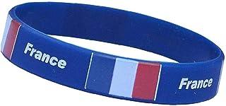 Las Pulseras De Silicona Pulseras con La Bandera Nacional Y del Escudo De Armas del Emblema para Hombres Y Mujeres Francia