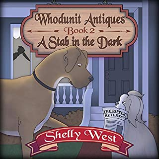 A Stab in the Dark     A Whodunit Antiques Cozy Mystery, Book 2              By:                                                                                                                                 Shelly West                               Narrated by:                                                                                                                                 Lili Dubuque                      Length: 4 hrs and 58 mins     1 rating     Overall 5.0