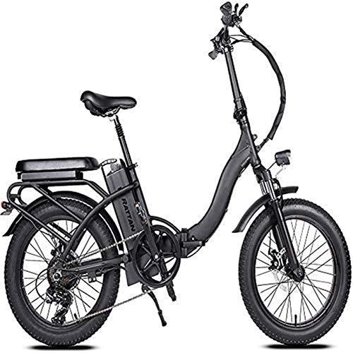 Alta velocidad 750w 20' x 4.0 48v 13Ah Bici Foldingelectric batería de litio extraíble 7 velocidad de motor sin escobillas for adultos de bicicletas todo terreno 4.0 Fat Tire 4-6 horas de batería