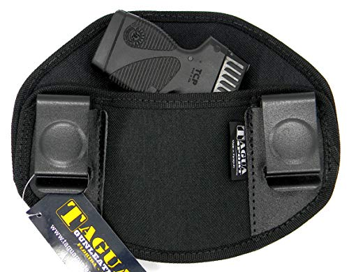 TAGUA Ambidextrous IWB Inside Pants Dual Clip Holster for SMALL AUTOS, Smith & Wesson Bodyguard 380, Beretta Pico 380, Kahr P380 CT380 CW380, Walther PPK PPK/S, Springfield 911 380, and More