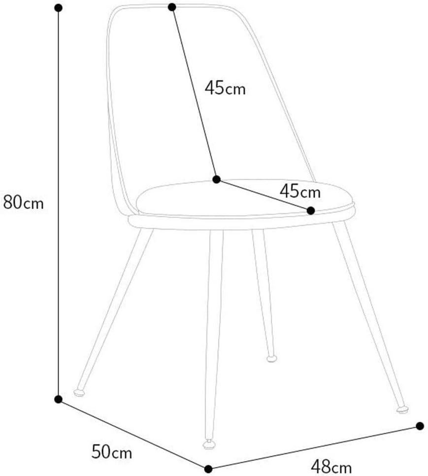 DALL Chaise De Salle À Manger Meuble Moderne Chaise De Table PU Rembourré Ergonomique Chaise De Bureau Salon Chambre 48x50x80cm (Color : Blue) Brown 2