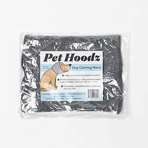 Pet Hoodz para perros, ansiedad, aseo y orejeras, protección para los oídos de perro, calmante, compresión de oídos, sudadera con capucha para mascotas, sudadera con capucha para perro (XL, gris)