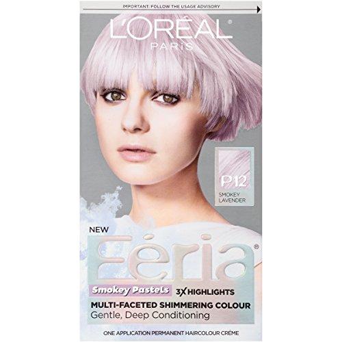 L'Oréal Paris Feria Pastels Hair Color, P12 Lavender Dusk (Smokey Lavender)