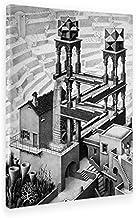 Giallobus - Schilderij - Afdrukken op Canvas - Escher - Waterval - 70 X 100 Cm