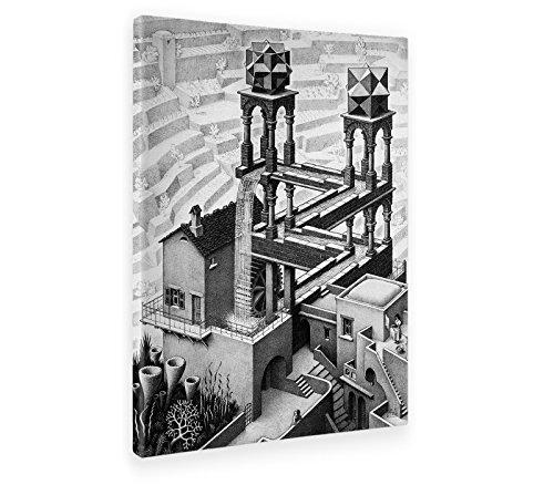 Giallobus - Bild - Druck AUF LEINWAND - Escher - Wasserfall - 50 x 70 cm