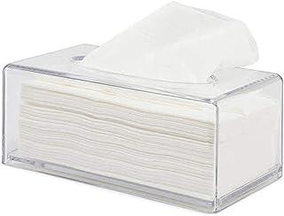 Uchwyt na skrzynkę do tkanki z kwadratem okładki, prostokątne przezroczyste akrylowe pudełko na tkankę, dozownik uchwytu s...