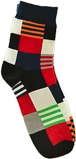 Men Socks, Easytoy 1 Pair Man Plaid Print Colorful All Match Socks (Navy)