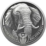 Elephant Elefante Big Five II 1 Oz Moneda Platino 20 Rand South Africa 2021