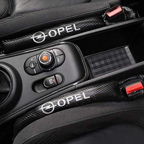 2 Stück Carbon Fiber Leakproof Protective Seat Gap Autoabdeckung Pad für Opel Astra H G J Abzeichen Mokka Zafira Corsa Vectra C D Antara