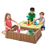 Simplay3 Sand and Water Bench - Kids Outdoor Storage Bench/Sand and...