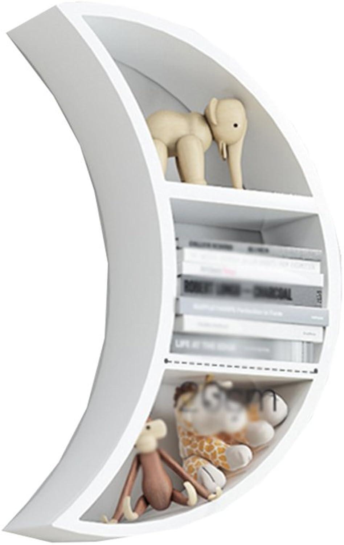 LQQGXLoffice Furniture Wall-Mounted Bookshelf, Wall Shelf partition Wall Cabinet Wall Hanging Wall Creative Lattice Decoration (color   White)
